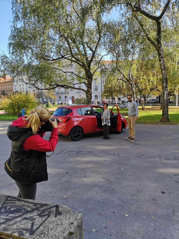 Foto session s Vesnom Mačković za promociju partnerstva Uber-a i ARKTIK-a