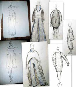 Skice kostima Martine Hrup i Luize Serblin